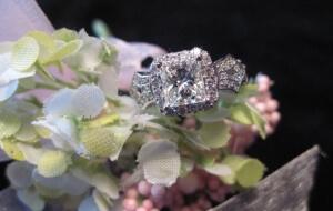 star ring, custom ring towson md, princess engagement ring
