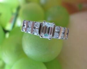 bar set engagement ring, emerald cut engagement ring york pa