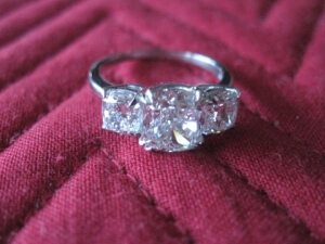 platinum engagement ring hunt valley md, cushion cut engagement ring