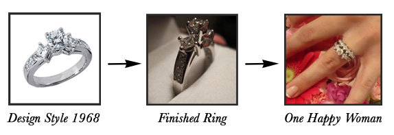 semi custom engagement rings