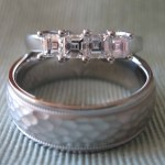 palladium wedding rings, hammer finish wedding band