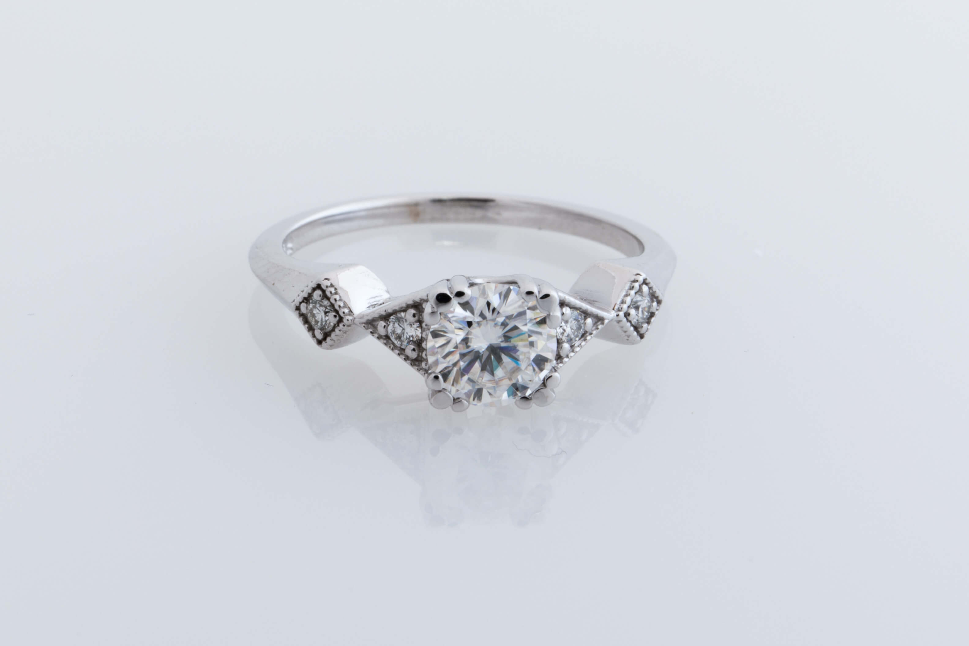 wedding engagement by round london ring diamond rounded two square halo rings