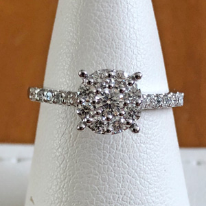custom cluster ring, cluster engagement ring, ring replacement