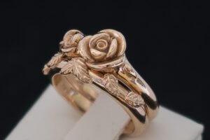 rose gold, leaf ring, natural engagement ring