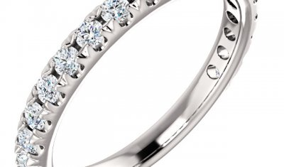 french cut pave wedding band york pa
