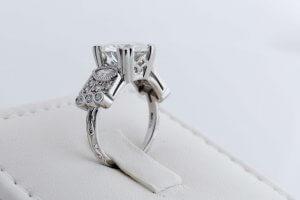 vintage engagement ring, engraved engagement ring, milgrain, platinum vintage engagement ring, custom ring, duplication