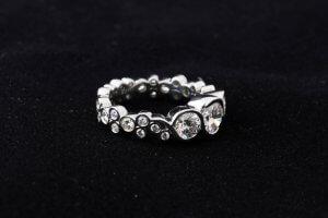bubble ring, bezel set diamonds, custom bubble diamond shank